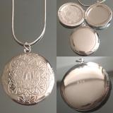 Cеребряный медальон для фотографии  #03011