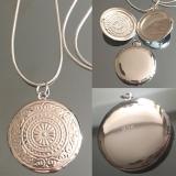 Cеребряный медальон для фотографии  #03012
