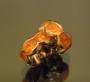 Рондели 8мм оранжевые  кристаллы #02083