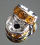 Рондели 8мм золотые кристаллы #02375