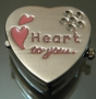 Часы Кулон Сердце Розовое #01597/2