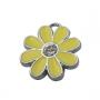 Подвеска цветочек желтый #01648