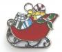 Подвеска Сани с подарками  #02052