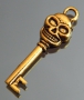 Подвеска ключик золотой Череп #02094