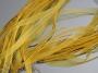 Шнурок двойной с органзой желтый #01634/10