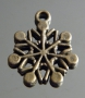Подвеска Снежинка бронза #02416