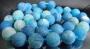 Бусина Агат Кракле Синий 10мм  #02588