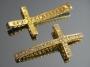 Коннектор для браслета Крест с кристаллами  #02675
