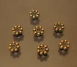 Бусна разделитель Дейзи 100 штук Античная бронза  5мм #00396/100