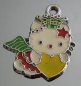 Подвеска Кити с сердечком #02889/1