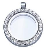 Медальон стеклянный с наполнением  #02908
