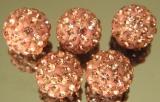 Бусина Шамбала Розоовый 10мм  #02540