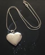 Cеребряный кулон Сердце Love для фотографии  #03025