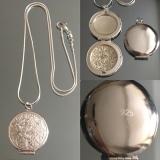 Cеребряный медальон для фотографии  #03010