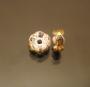 Рондели 8мм желтые  кристаллы #00669