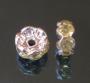 Рондели 8мм лимонные  кристаллы #01325