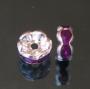 Рондели 8мм фиолетовые  кристаллы #01326
