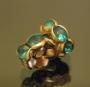 Рондели 8мм бирюзовые  кристаллы #02082