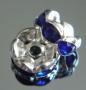 Рондели 8мм синие  кристаллы #02081