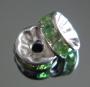 Рондели 8мм салатовые кристаллы #02374
