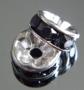Рондели 8мм черные кристаллы #02377