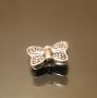 Бусина металлическая бабочка #00202