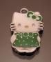 Подвеска Кити зеленая  #00785/2