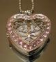 Часы Ажурное сердце со стразами #01085