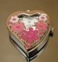 Часы Кулон Цветочное сердечко #01086