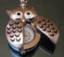 Часы Сова  серебристая #01322