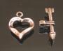 Замок-тогл Сердце и стрела #01465