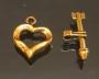 Замок-тогл Сердце и стрела #01466