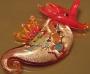 Кулон Лэмпворк Морской конёк #01603