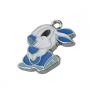 Подвеска Зайчик с голубыми лапками  #01655
