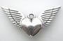 Подвеска Сердце с крыльями  #02004