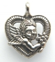 Подвеска Ангелочек в сердце #02061