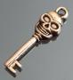 Подвеска ключик Череп #02093