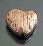 Бусина Сердце 12х9х3мм #02282