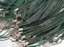 Шнурок двойной с органзой изумрудный   #00693/10