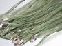 Шнурок двойной с органзой зеленый #01634/4