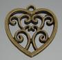 Подвеска Сердце Ажурное бронза#02337