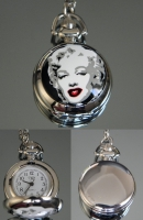 Часы Кулон на цепочке Мерлин Монро  #2396