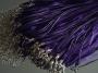 Шнурок двойной с органзой фиолетовый #01634/7