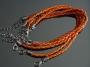 Браслет Кожаный плетеный Оранжевый #02403
