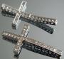 Коннектор для браслета Крест с кристаллами  #02506