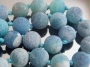 Бусина Агат Кракле Синий 11мм  #02469