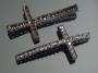 Коннектор для браслета Крест с кристаллами  #02674