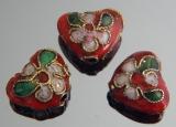Бусина Клуазоне Сердце Красное 10х12мм #02801