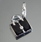 Подвеска сумочка черная на браслет #02830
