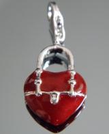 Подвеска сердце на браслет #02833